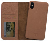 Magnetic Wallet Case Apple IPhone X / XS - Brown_