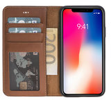 Wallet Case Apple IPhone X / Xs - Cognac Brown_