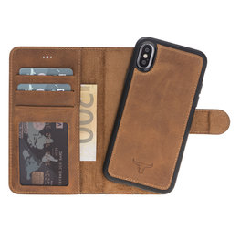 Magnetic Wallet Case Apple IPhone X / Xs - Antic Brown