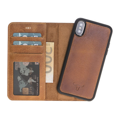 Magnetic Wallet Case Apple IPhone X / Xs - Brown