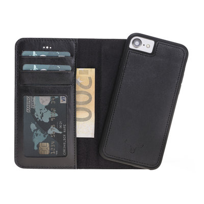 Magnetic Wallet Case Apple IPhone 6 / 6s - Zwart