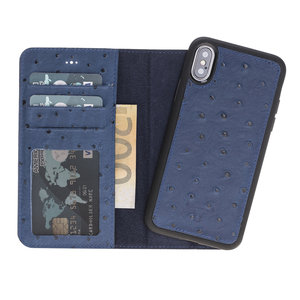 Magnetic Wallet Case Apple IPhone X / Xs - Ostric Blue